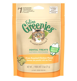 Greenies Dental Oven Roasted Chicken 2.5OZ - Cat
