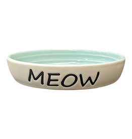 "Spot - Ethical Pet Products Meow Oval Dish 6"" Cat"