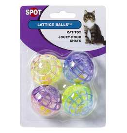 Spot - Ethical Pet Products Lattice Balls with Bell 4PK