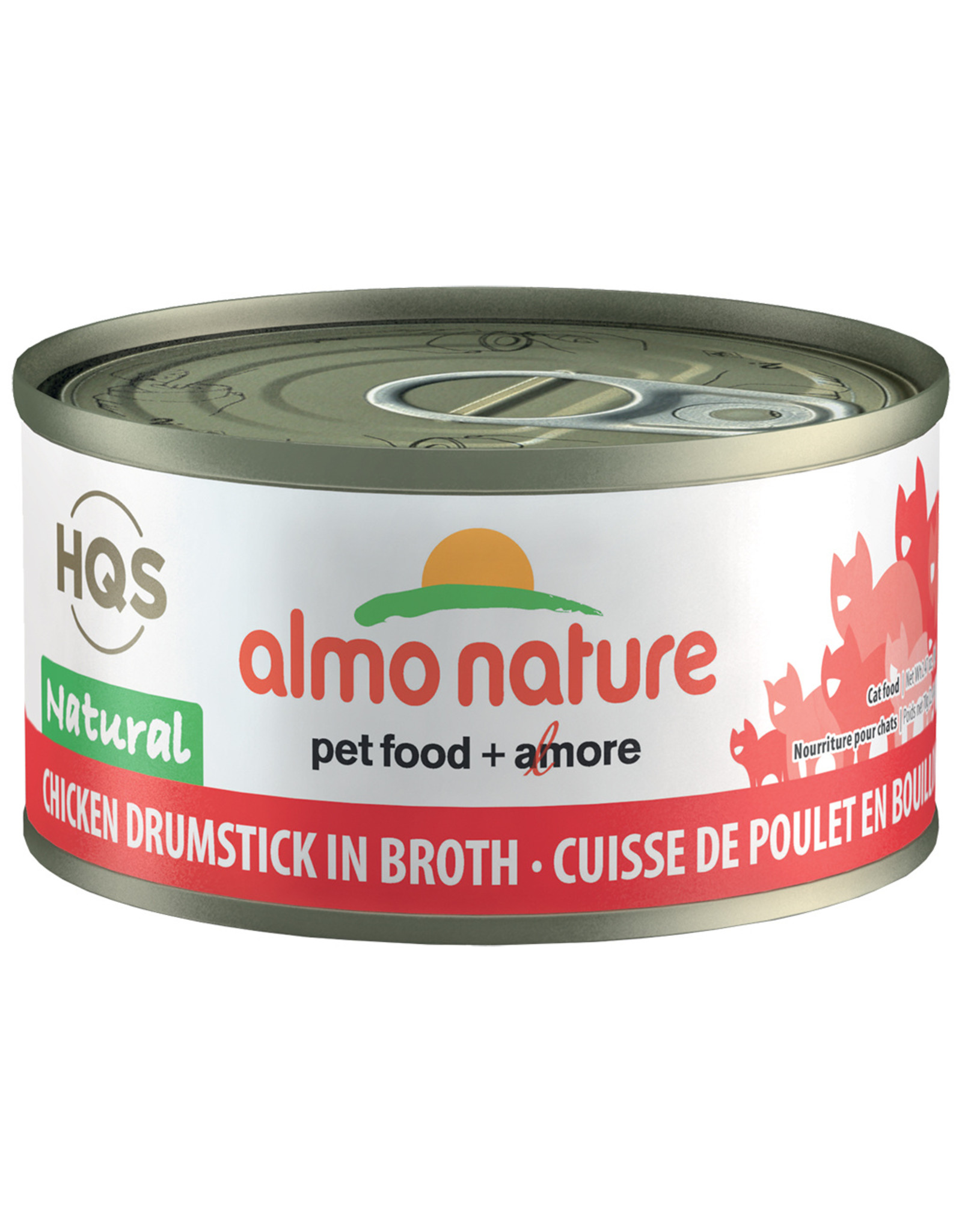 Almo | Natural Chicken Drumstick in Broth 70GM - Cat SINGLE