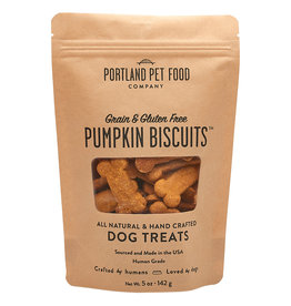 Portland Pet Grain & Gluten Free Pumpkin Biscuit 5OZ