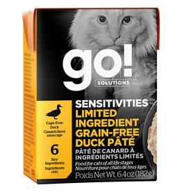Petcurean GO!Sensitivities LID GF Duck Pate 6.4OZ - Cat SINGLE