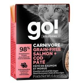 Petcurean GO! Carnivore Salmon & Cod Pate 6.4OZ - Cat SINGLE