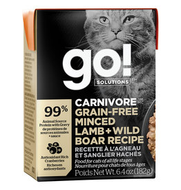 Petcurean GO!Carnivore Minced Lamb & Boar 6.4OZ - Cat SINGLE