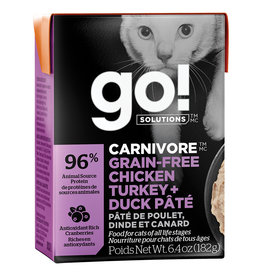 Petcurean GO!Carnivore Chicken,Turkey&Duck 6.4OZ - Cat SINGLE
