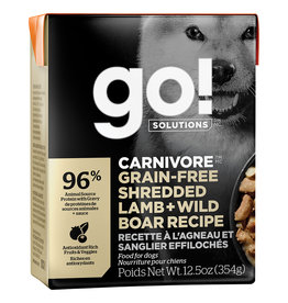 Petcurean GO! Carnivore Shredded Lamb & Boar 12.5OZ SINGLE
