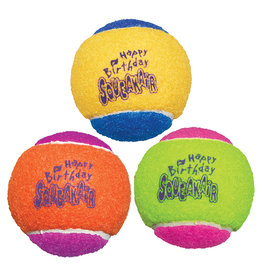 Kong Tennis Balls Birthday Assorted Medium 3PK