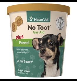 NaturVet Soft Chew No Toot Gas Aid 70CT