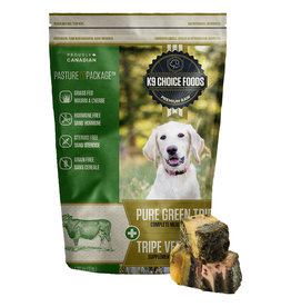 K9 Choice Frozen - Pure Green Tripe 1.36KG