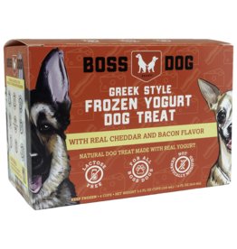 Boss Dog Frozen - Yogurt Real Cheddar & Bacon 4PK/104ML
