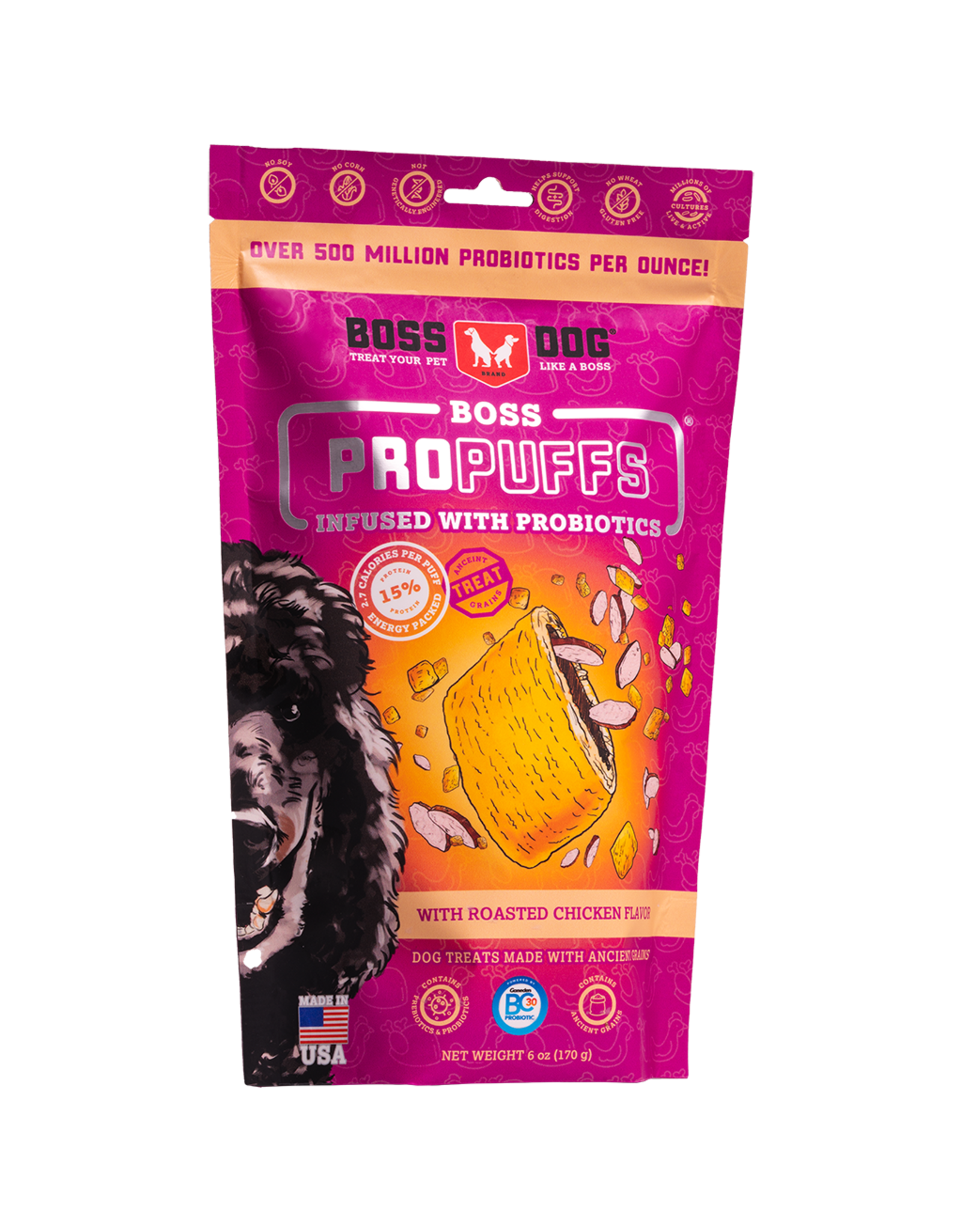 Boss Dog Boss ProPuffs Roasted Chicken 170GM SINGLE