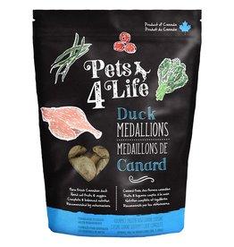Pets 4 Life Frozen - Raw Duck 1OZ Medallions 3LB