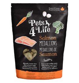 Pets 4 Life Frozen - Raw Salmon 1OZ Medallions 3LB