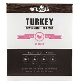 Naturawls Frozen - Raw Turkey & Veggie 12/227GM