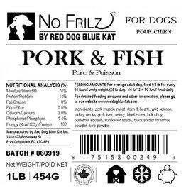 Red Dog Blue Kat No Frilz Pork, Fish & Turkey Blend 1LB