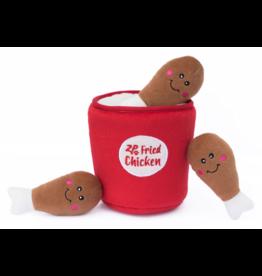ZippyPaws Burrow Squeaker Toy Chicken Bucket