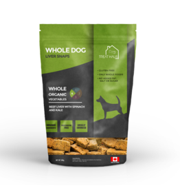 TreatHaus WholeDog Liver Snaps Beef Liver Spinach&Kale 380 g