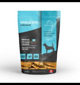 TreatHaus WholeDog Liver Snaps Beef Liver Chia & Hemp 380 g