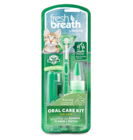 TropiClean Fresh Breath Oral Care Brushing Kit for Cats 2oz