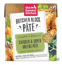 HK Dog HK Dog Butcher Block Pate Chicken & Super Greens 10.5 oz SINGLE