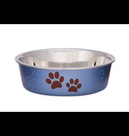 Loving Pets Bella Bowls XLarge Metallic Blueberry