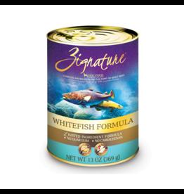 Zignature Dog LID GF Whitefish 13 oz single