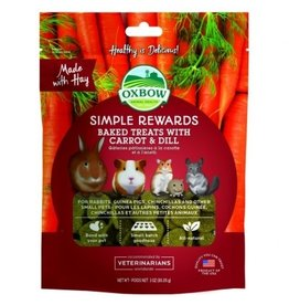 Oxbow Simple Rewards Baked Treats with Carrot & Dill 85g