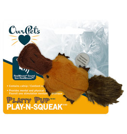 OurPet's Company Play N Squeak Plush Platty Pup | Catnip
