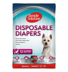 Simple Solutions Disposable Female Diapers 12PK