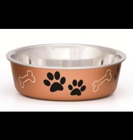 Loving Pets Bella Bowls Metallic Copper Medium