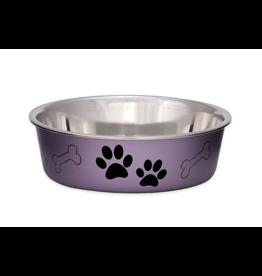 LovingPets Bella Bowls Metallic Grape Medium