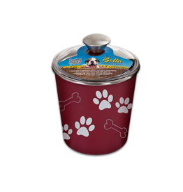 Loving Pets Bella Bowls Canister Merlot
