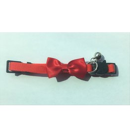 4 Paws Market Nylon Cat Collar w/ Bowtie and Bell