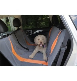 "Budz Dog Carseat Covers Gray/Orange 53"" X 63"""