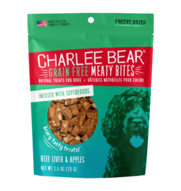 Charlee Bear Meaty Bites Beef liver with Apple 2.5oz
