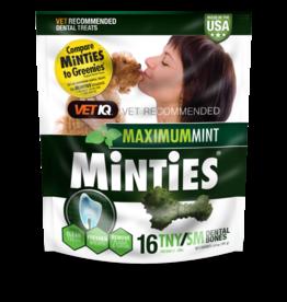 Minties Maximum Mint Dental Bones TNY/SM 6.4 oz 16 ct