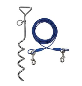 Smart Pet Love Tie-Out Cable & Spiral Stake