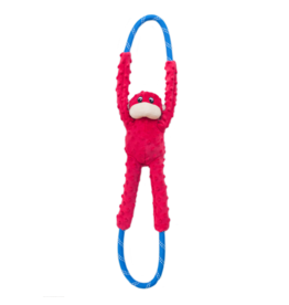 ZippyPaws RopeTugz Monkey Red