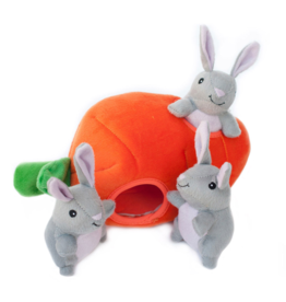 ZippyPaws Burrow Squeaker Toy Bunny n Carrot