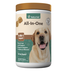 NaturVet Soft Chew All In One 120CT