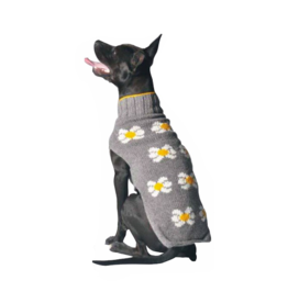 ChillyDog Girly Grey Daisy Sweater