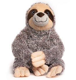 fab dog inc. Fluffy Sloth Plush Toy with Fabtough - Sm