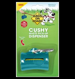 Bags on Board Cushy Dispenser Teal 14 bags