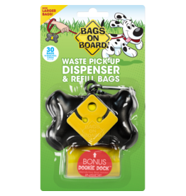 Bags on Board Bone Poop Dispenser Black 30 bags