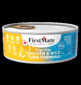 FirstMate Cat GF 50/50 Cage Free Chicken/Wild Tuna 5.5 oz