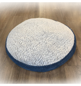 "Pure Comfort Accented Round Bed 36"" Grey"