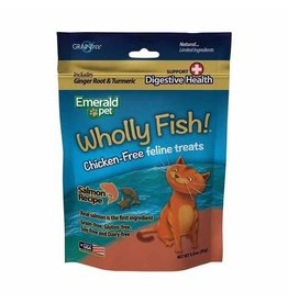 Emerald Pet Cat -Wholly Fish Salmon + Digestive Health - 3 oz