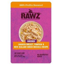 Rawz Cat Shredded Chicken Breast, Pumpkin & NZGM Pouch 2.4oz