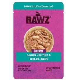 Rawz Cat Shredded Salmon, Aku Tuna & Tuna Oil Pouch 2.46oz