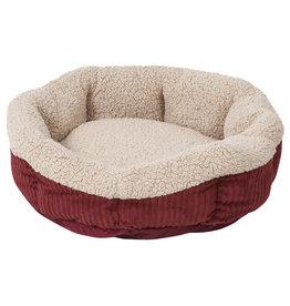 "Aspen Pet Self Warming Oval Lounger Red & Cream 19"""
